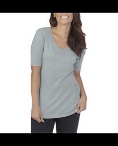 Women's Essentials All Day Elbow Length V-Neck T-Shirt