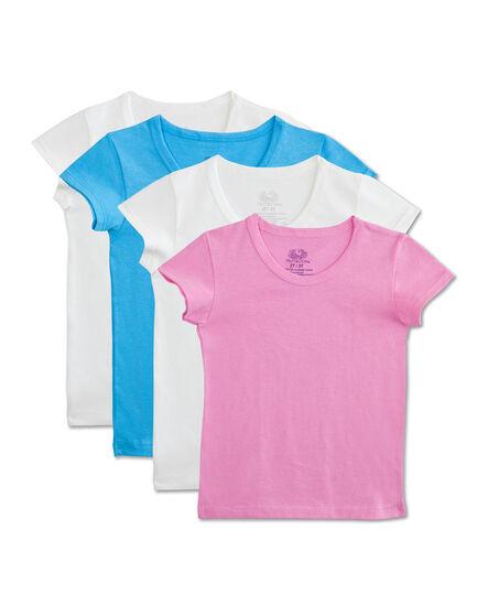 Toddler Girls' 4 Pack T-Shirt Assorted