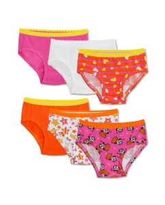 Toddler Girls' 6 Pack Assorted Hipster