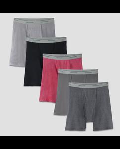 Men's 5 Pack Stripe/Solid Boxer Brief