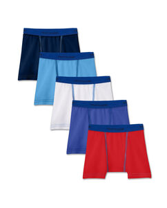 Fruit of the Loom Toddler Boys' Cotton Stretch Boxer Brief, 5 pack