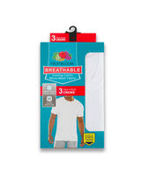 Fruit of the Loom Men's Breathable Cooling Cotton White Crew White