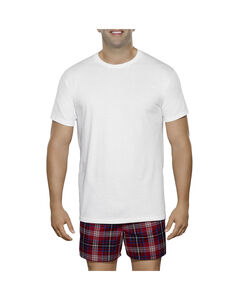Men's 3 Pack Big Man White Crew T-Shirt