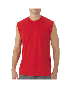 Men's Muscle T-Shirt with Rib Trim Extended Sizes