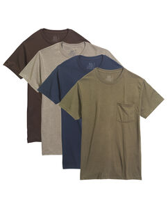 Men's 4 Pack Assorted Pocket T-Shirt Extended Sizes