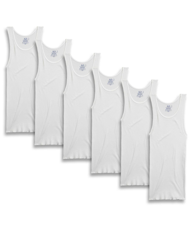 Men's 6 Pack White A Shirt - Fruit US