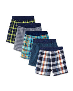 Fruit of the Loom Boys' Covered Waistband Boxer, 5 Pack