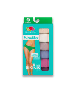 Fruit of the Loom Women's Microfiber Bikini, 6 Pack