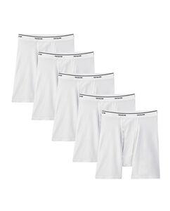Men's 5 Pack Classic White Boxer Brief