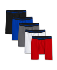 Boys' 5 Pack Cotton Stretch Boxer Brief