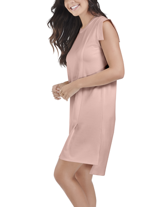 Women's Seek No Further Pleated Ponte Shift Dress