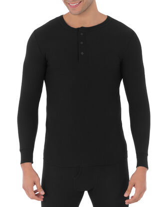 Men's Classic Thermal Henley Top