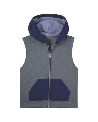 Boys' Fleece Full Zip Sleeveless Vest, 1 Pack