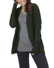 Women's Essentials Cocoon Wrap Cardigan, 1 Pack Boxwood Green