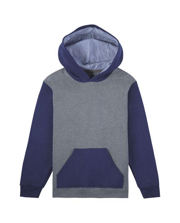 Boys' Fleece Hoodie Sweatshirt, 1 Pack Charcoal/Navy