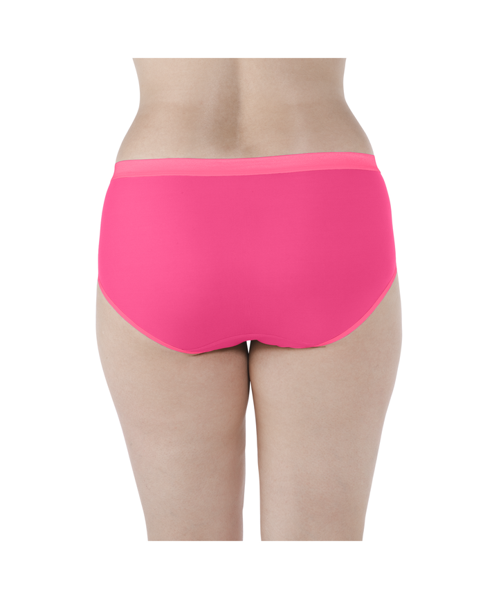 Women's  Fit for Me by EverLight Hipsters Plus Size Panties, 4 Pack Assorted