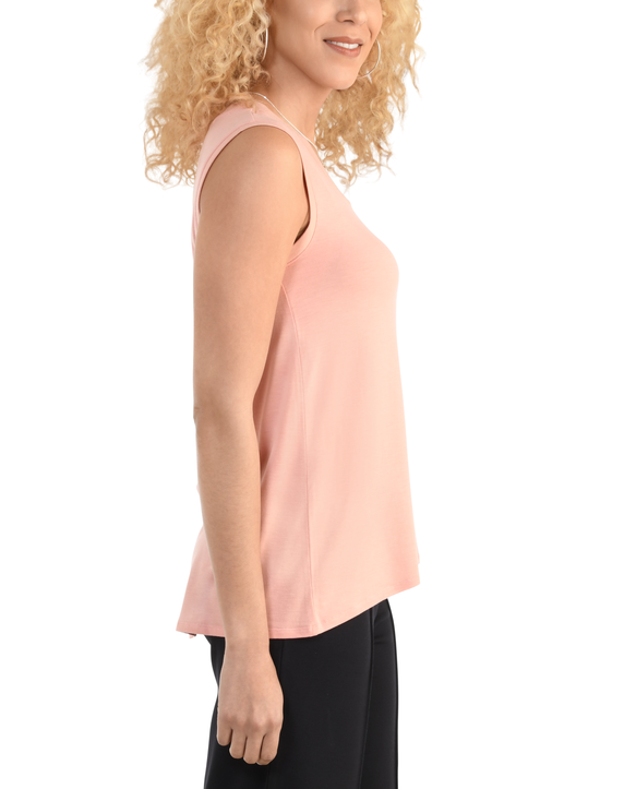 Women's Seek No Further Scoop Neck Shell Tank Top Dream Coral