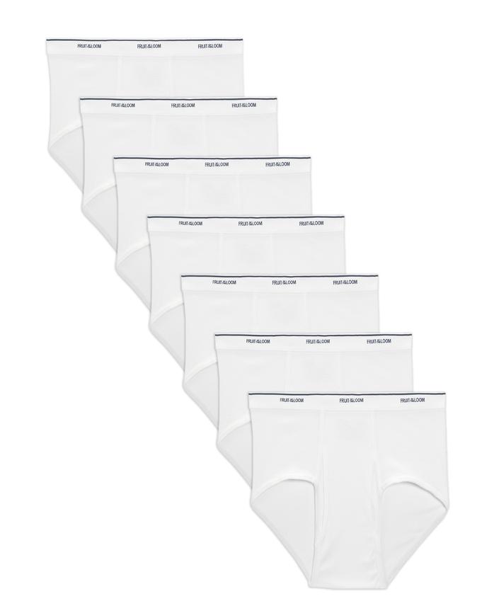 Men's Dual Defense Classic White Briefs, 7 Pack