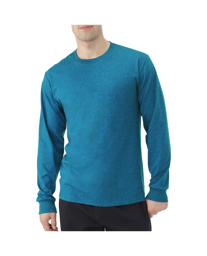 Men's EverSoft Long Sleeve T-Shirt, 1 Pack Amulet Teal Heather