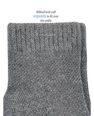 Baby Sock Gift Set, Breathable Crew Length Socks, 12 Pack Grey Multi