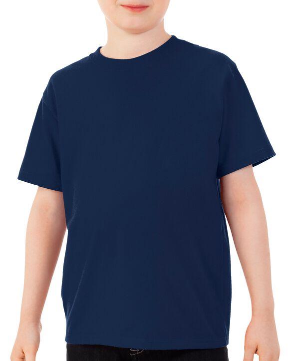 Boys' Short Sleeve Crew T-Shirt, 2 Pack Navy
