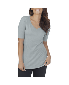 Women's Essentials All Day Elbow Length V-Neck T-Shirt