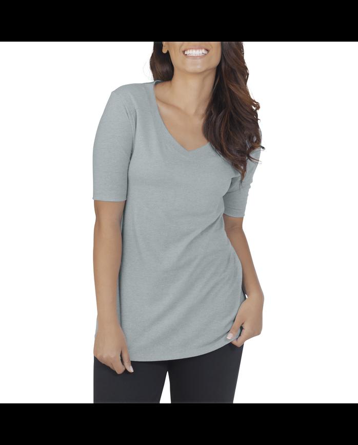91e335f5b4880 Women s Essentials All Day Elbow Length V-Neck T-Shirt - Fruit US