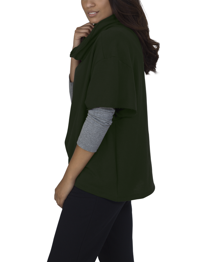 Women's Essentials Cowl Neck Pullover, 1 Pack Boxwood Green