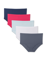 Fit For Me by Fruit of the Loom Women's 5 Pack Seamless Brief Assorted