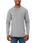 Men's Soft Long Sleeve Crew Neck T-Shirt, 2 Pack Athletic Heather