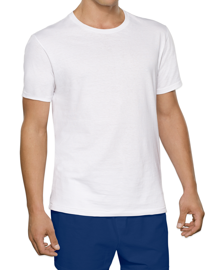Tall Men's Classic White Crew T-Shirts, 6 Pack