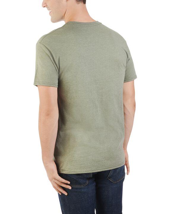 Men's 360 Breathe Short Sleeve Pocket T-Shirt, Extended Sizes Green Moss Heather