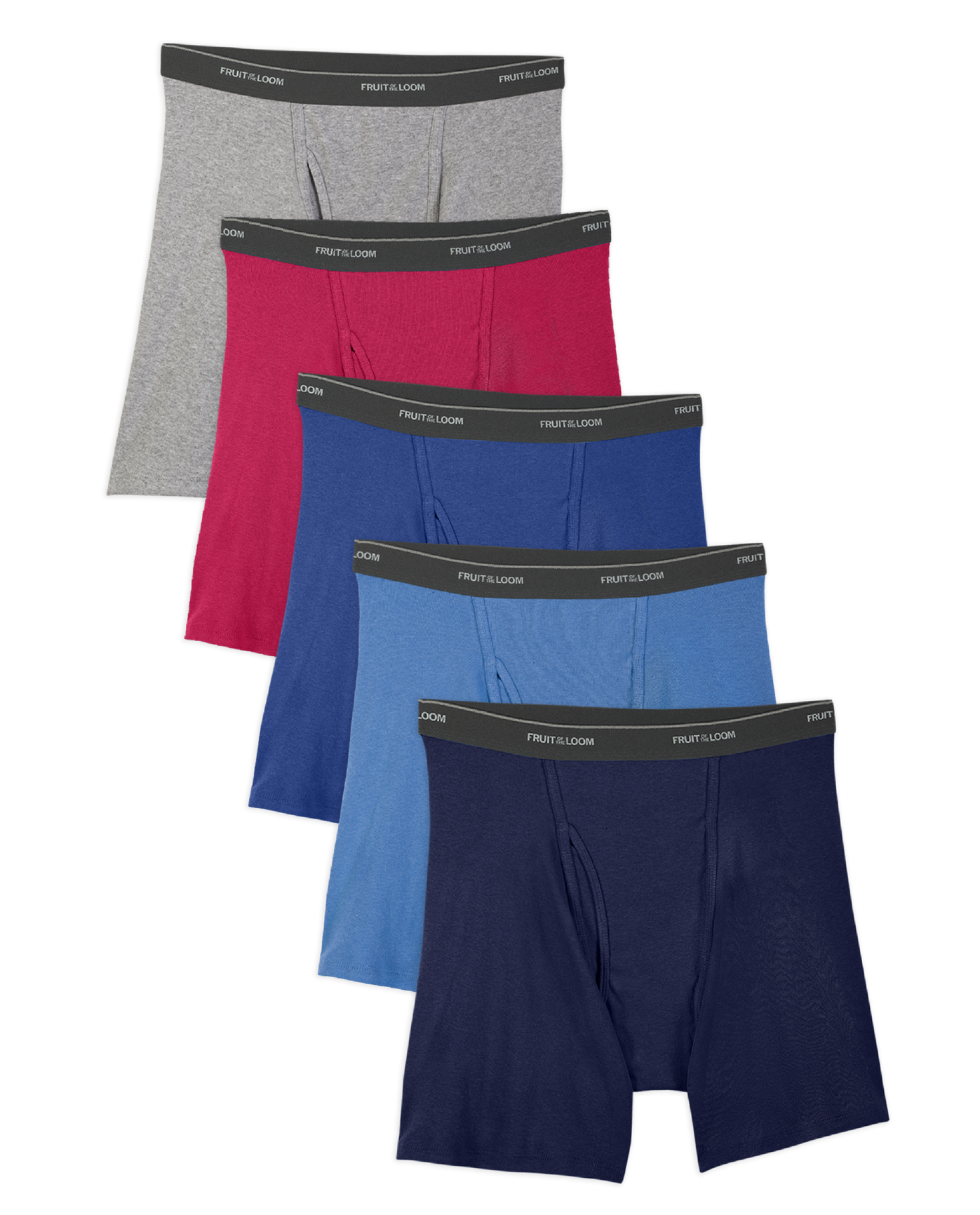 Men's 5 Pack Assorted Color Boxer Brief Assorted Color