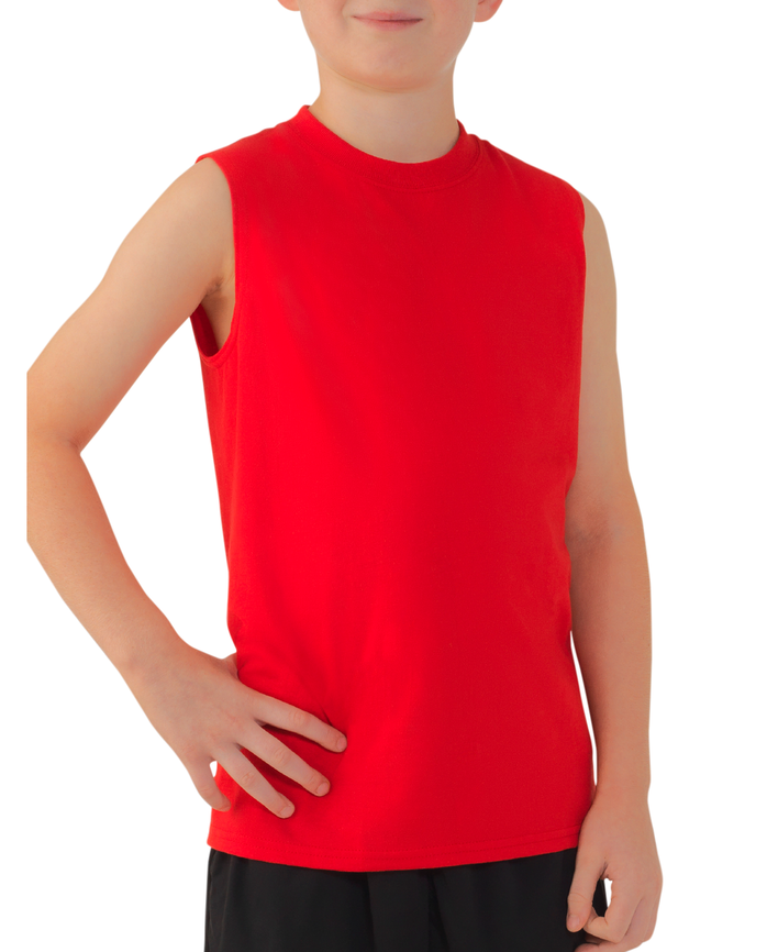 Boys' Sleeveless T-Shirt, 2 Pack