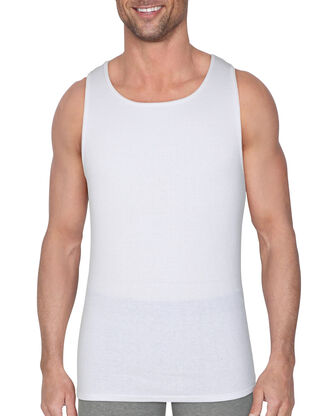 BVD Men's White Cotton A-Shirt, 6 Pack