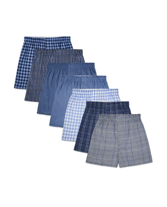 Boys' Assorted Tartan Plaid Boxers, 7 Pack ASSORTED