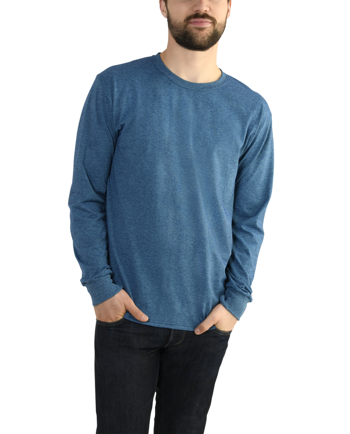 Men's EverSoft Long Sleeve Micro Stripe T-Shirt, Available up to size 4X