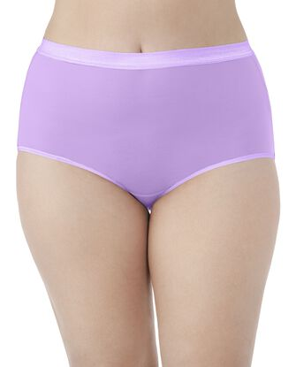 Women's  Fit for Me by EverLight Briefs Plus Size Panties, 4 Pack
