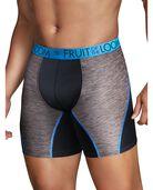 Men's Breathable Performance Assorted Color  Boxer Briefs, 3 Pack