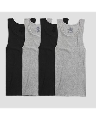 Men's Black and Gray A-Shirts, 4 Pack, 2XL