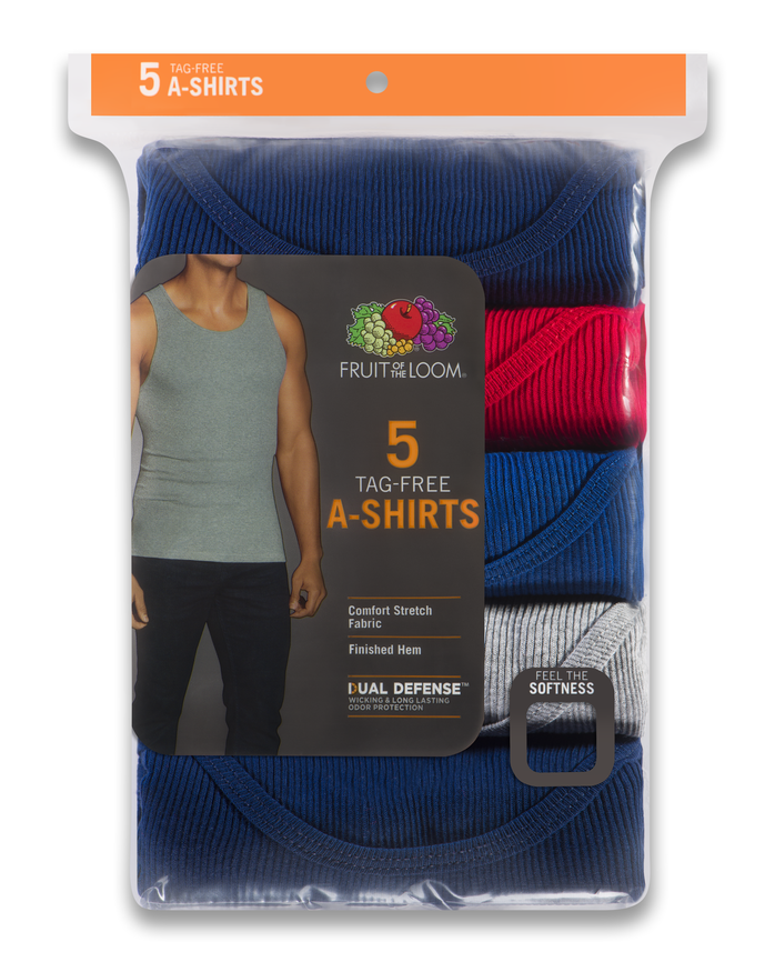 Men's Assorted A-Shirts, 5 Pack