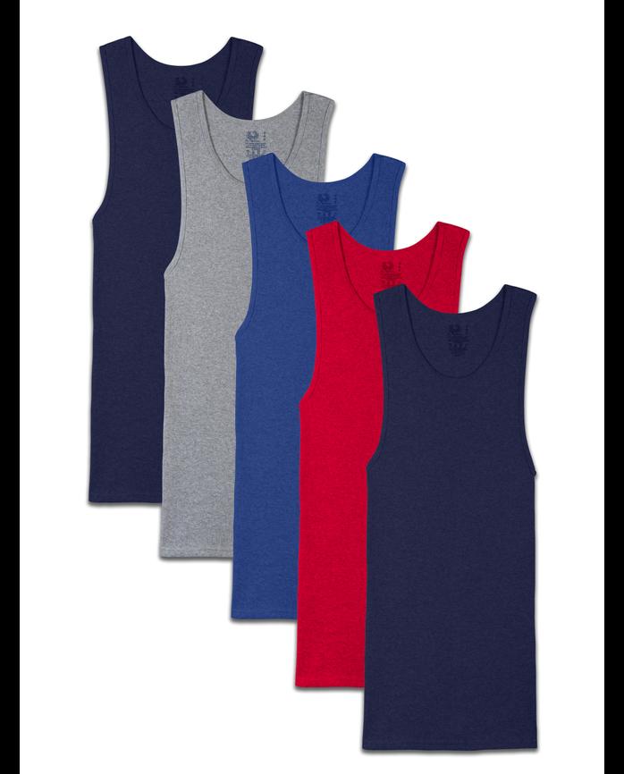 bf0357fbc90f4 Men's Dual Defense® Assorted A-Shirts, 5 Pack