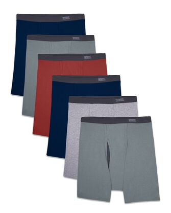 Men's EverSoft CoolZone Fly Covered Waistband Boxer Briefs, 6 Pack