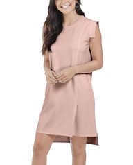 Women's Seek No Further Pleated Ponte Shift Dress Bare Pink