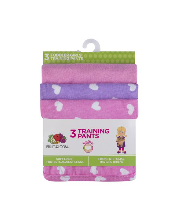 Toddler Girls' Training Pant, 3 Pack Assorted