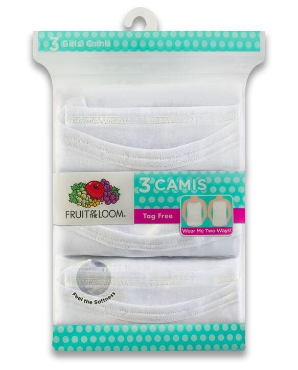 Girls' White Cami, 3 Pack WHITE ICE
