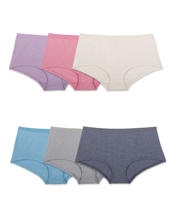 Women's Beyondsoft Boy Short, 6 Pack ASSORTED