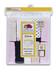 Girls' 10 Pack Assorted Classic Cotton Brief ASSORTED