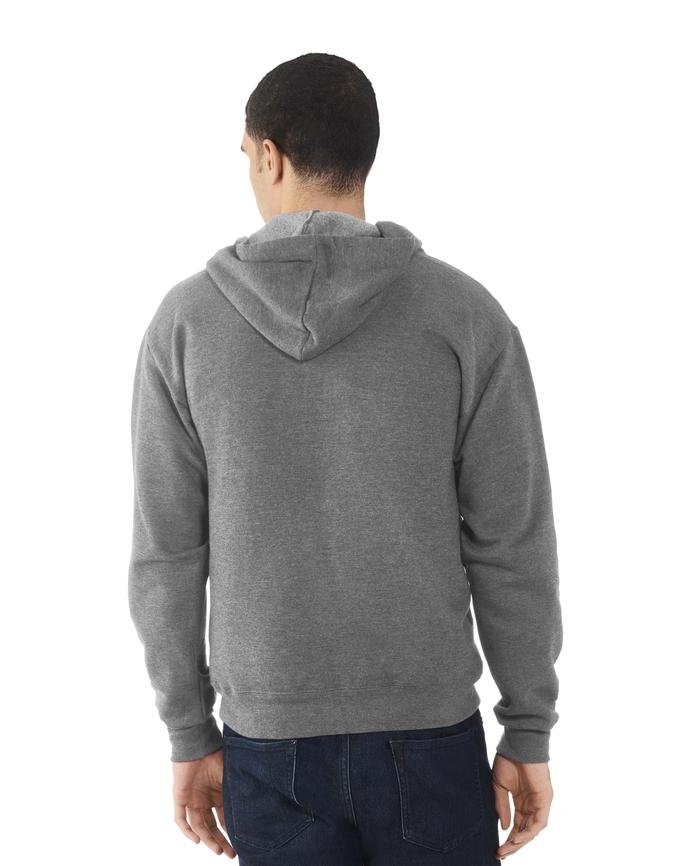 Men's EverSoft Fleece Full Zip Hoodie Jacket, 1 Pack Charcoal Heather