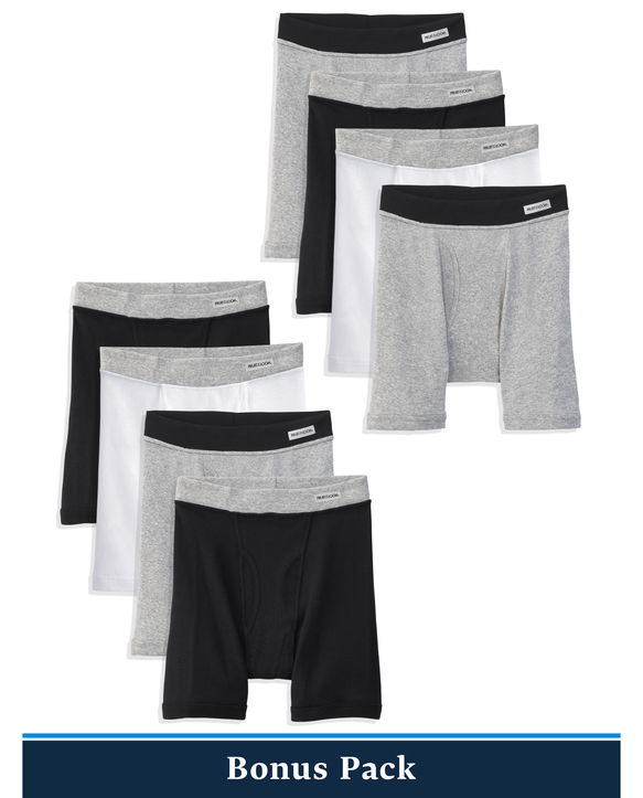 Boys' Covered Waistband Boxer Briefs, 8 Pack